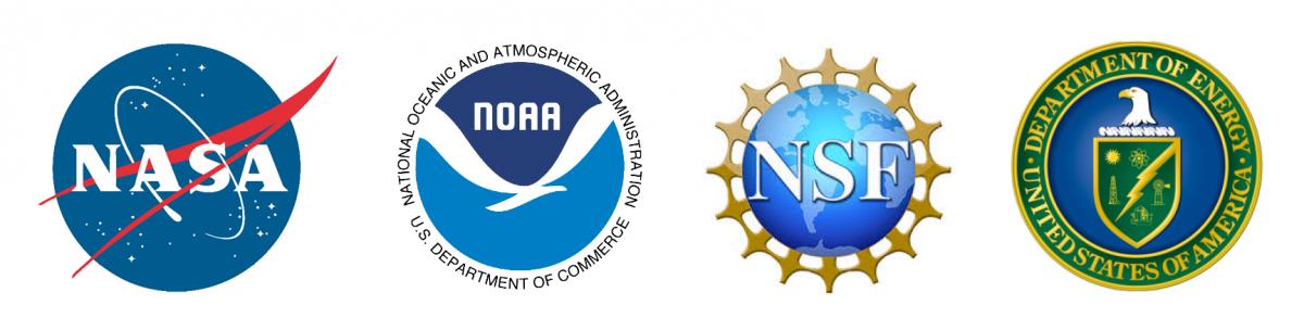 NASA, NOAA, NSF, DOE logos