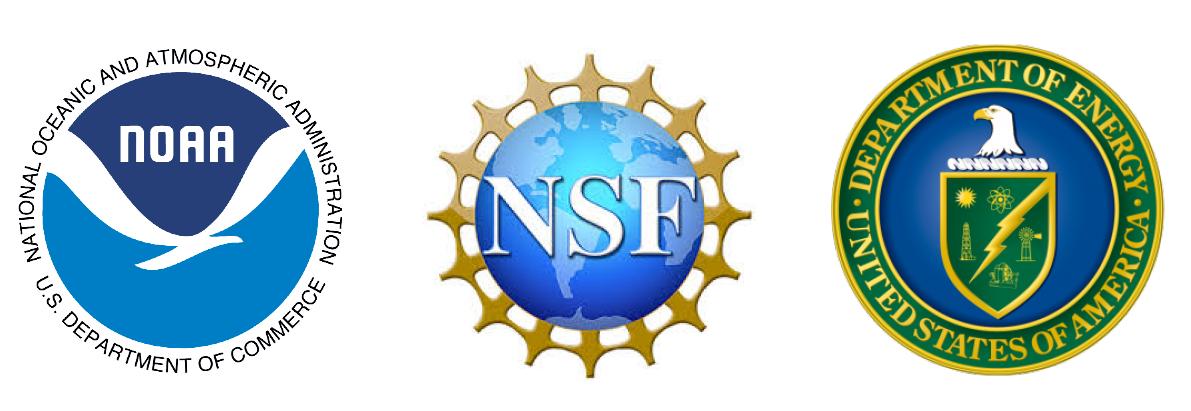 NOAA, NSF, and DOE logos