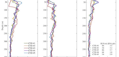 Buoyancy frequencies in Caribbean Sea